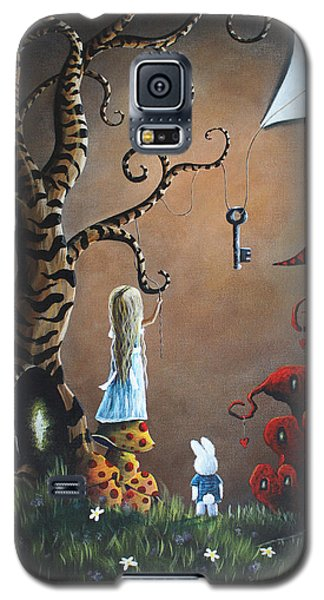 Alice In Wonderland Original Artwork - Key To Wonderland Galaxy S5 Case by Shawna Erback