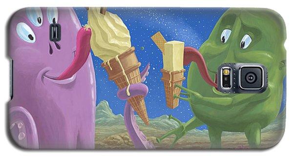 Galaxy S5 Cases - Alien Ice Cream Galaxy S5 Case by Martin Davey