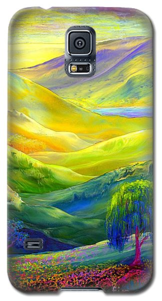 Impressionism Galaxy S5 Cases - Amber Skies Galaxy S5 Case by Jane Small