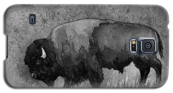 Monochrome American Buffalo 3  Galaxy S5 Case by Hailey E Herrera