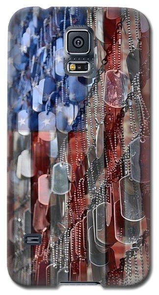 Red Galaxy S5 Cases - American Sacrifice Galaxy S5 Case by DJ Florek