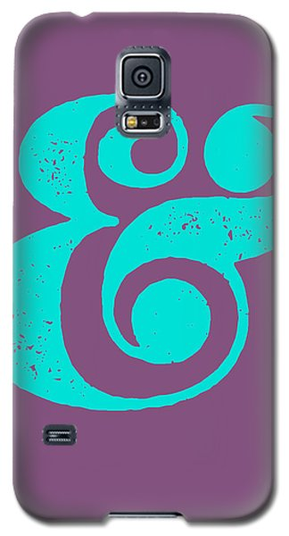 Ampersand Poster Purple And Blue Galaxy S5 Case by Naxart Studio