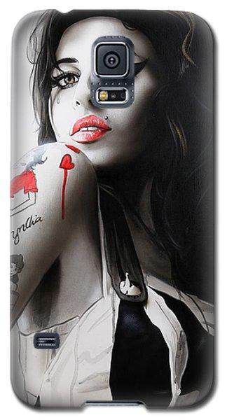 'amy' Galaxy S5 Case by Christian Chapman Art