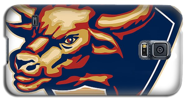 Angry Bull Head Crest Retro Galaxy S5 Case by Aloysius Patrimonio