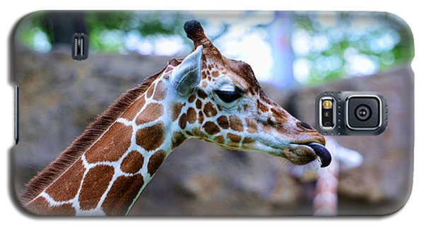 Animal - Giraffe - Sticking Out The Tounge Galaxy S5 Case by Paul Ward