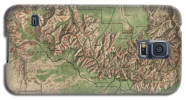 Antique Map Of Grand Canyon National Park By The National Park Service - 1926 Galaxy S5 Case by Blue Monocle