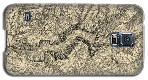 Antique Map Of Yosemite National Park By George M. Wheeler - Circa 1884 Galaxy S5 Case by Blue Monocle