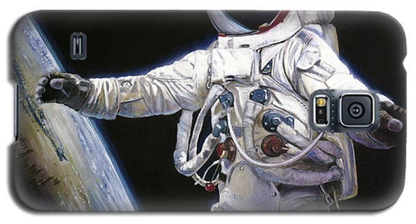 Apollo 9 - Schweickart On The Porch Galaxy S5 Case by Simon Kregar