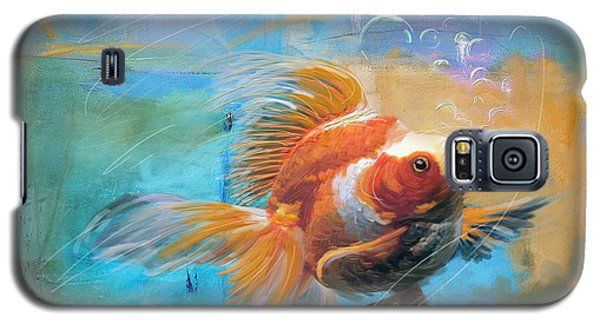 Aqua Gold Galaxy S5 Case by Catf