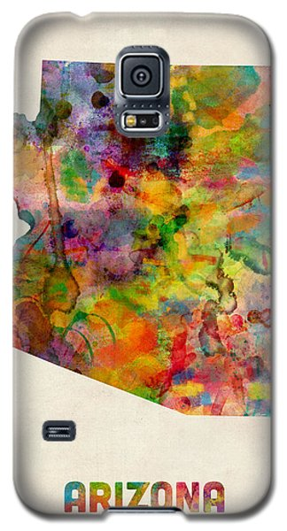 Arizona Watercolor Map Galaxy S5 Case by Michael Tompsett