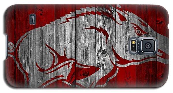 Arkansas Razorbacks Barn Door Galaxy S5 Case by Dan Sproul