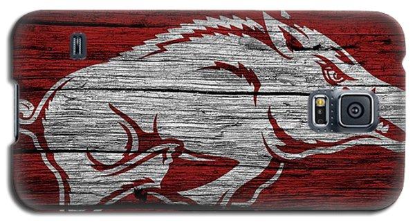 Arkansas Razorbacks On Wood Galaxy S5 Case by Dan Sproul