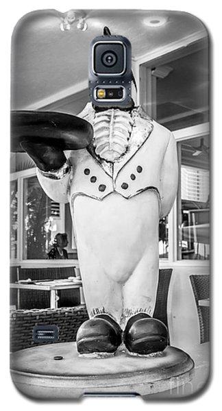 Art Deco Penguin Waiter South Beach Miami - Black And White Galaxy S5 Case by Ian Monk