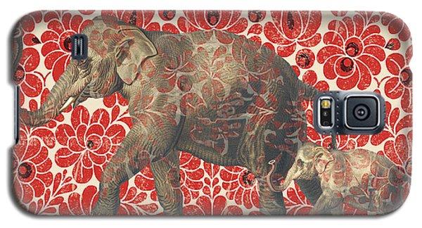 Asian Elephant-jp2185 Galaxy S5 Case by Jean Plout