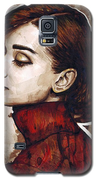 Celebrities Galaxy S5 Cases - Audrey Hepburn Galaxy S5 Case by Olga Shvartsur