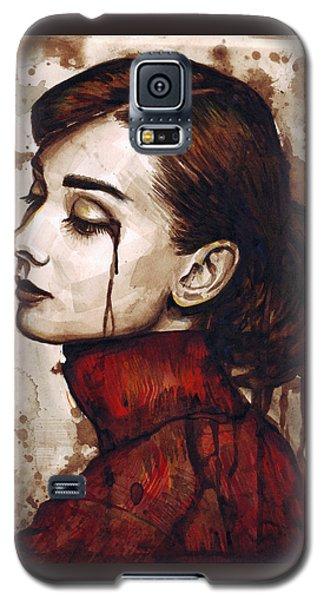 Audrey Hepburn - Quiet Sadness Galaxy S5 Case by Olga Shvartsur