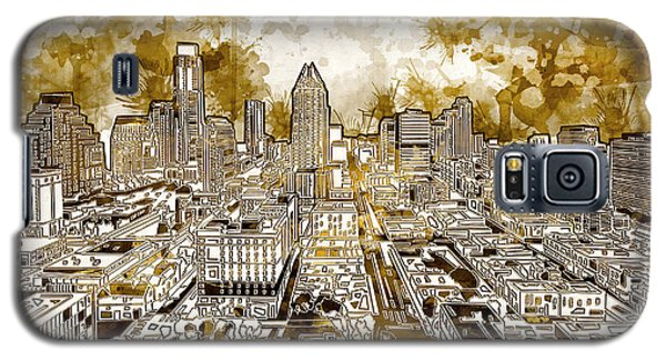 Austin Texas Abstract Panorama 6 Galaxy S5 Case by Bekim Art
