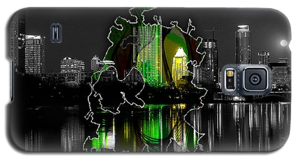 Austin Texas Map And Skyline Watercolor Galaxy S5 Case by Marvin Blaine