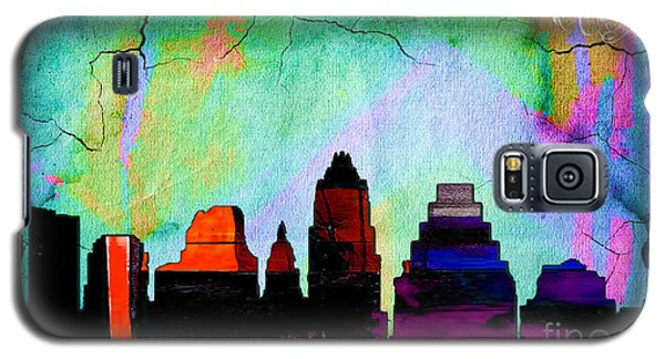 Austin Texas Skyline Watercolor Galaxy S5 Case by Marvin Blaine