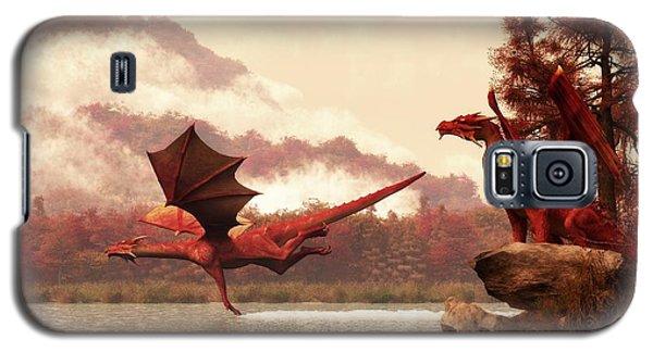 Autumn Dragons Galaxy S5 Case by Daniel Eskridge