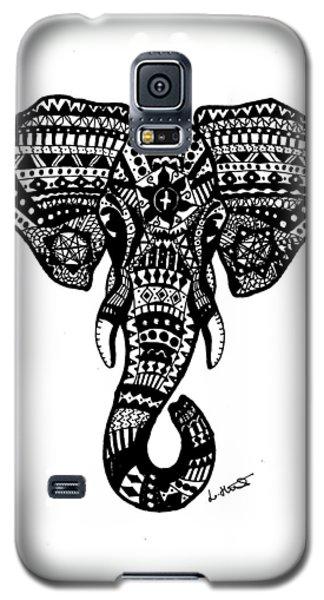 Aztec Elephant Head Galaxy S5 Case by Loren Hill