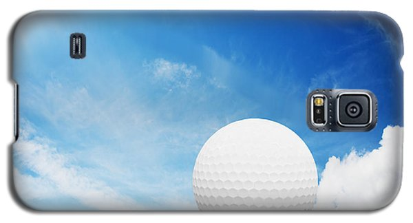 Ball On Tee On Green Golf Field Galaxy S5 Case by Michal Bednarek