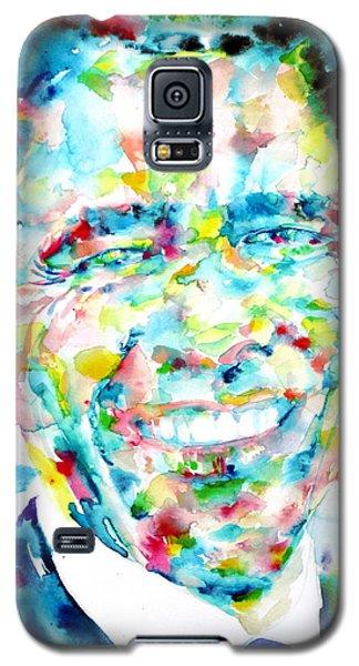 Barack Obama - Watercolor Portrait Galaxy S5 Case by Fabrizio Cassetta