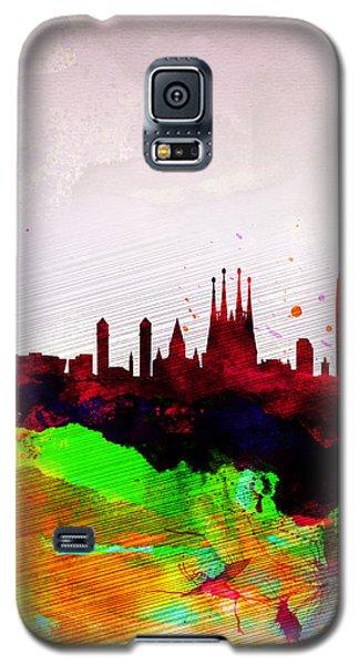 Barcelona Watercolor Skyline Galaxy S5 Case by Naxart Studio