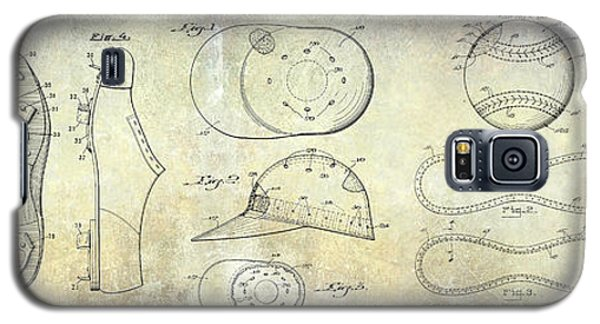 Baseball Patent Panoramic Galaxy S5 Case by Jon Neidert