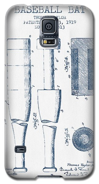 Baseball Bat Patent From 1919 - Blue Ink Galaxy S5 Case by Aged Pixel