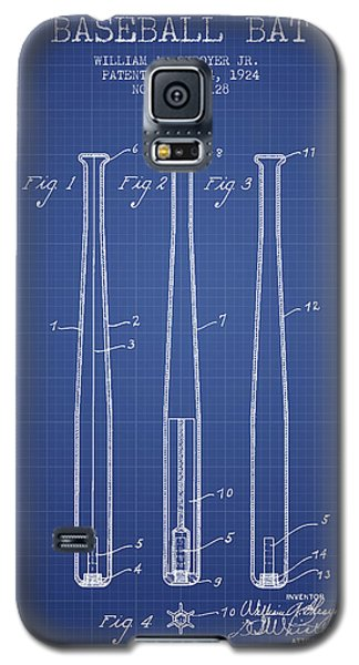 Baseball Bat Patent From 1924 - Blueprint Galaxy S5 Case by Aged Pixel