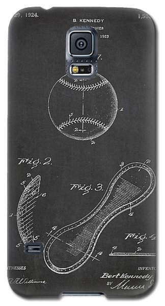 Baseball Cover Patent Drawing From 1923 Galaxy S5 Case by Aged Pixel