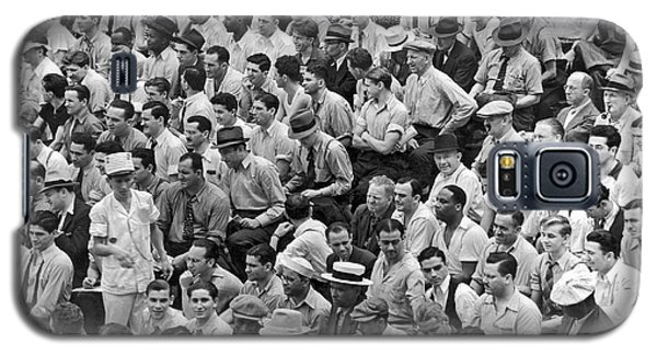 Baseball Fans In The Bleachers At Yankee Stadium. Galaxy S5 Case by Underwood Archives