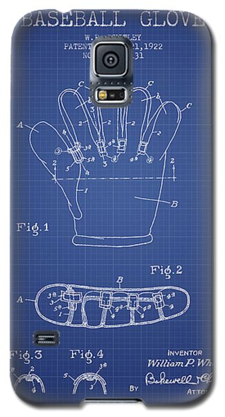 Baseball Glove Patent From 1922 - Blueprint Galaxy S5 Case by Aged Pixel
