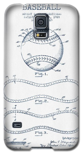Baseball Patent Drawing From 1928 - Blue Ink Galaxy S5 Case by Aged Pixel