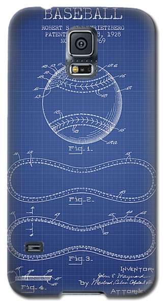 Baseball Patent From 1928 - Blueprint Galaxy S5 Case by Aged Pixel