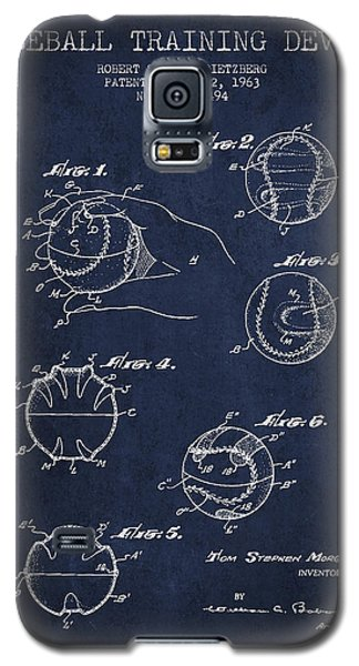 Baseball Training Device Patent Drawing From 1963 Galaxy S5 Case by Aged Pixel