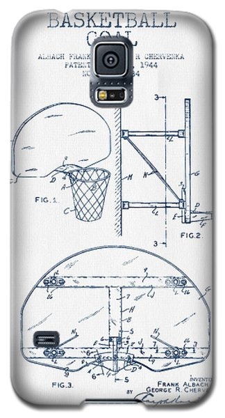 Basketball Goal Patent From 1944 - Blue Ink Galaxy S5 Case by Aged Pixel