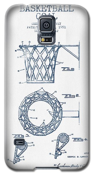 Basketball Goal Patent From 1951 - Blue Ink Galaxy S5 Case by Aged Pixel