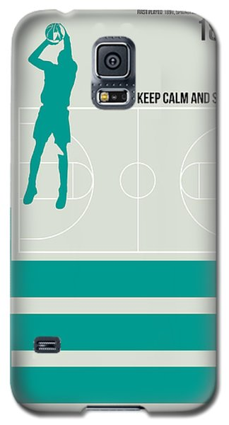 Basketball Poster Galaxy S5 Case by Naxart Studio