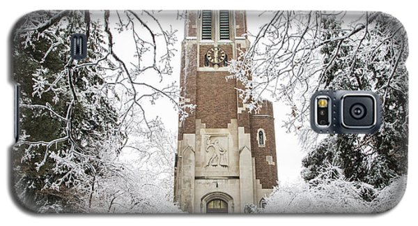 Beaumont Tower Ice Storm  Galaxy S5 Case by John McGraw