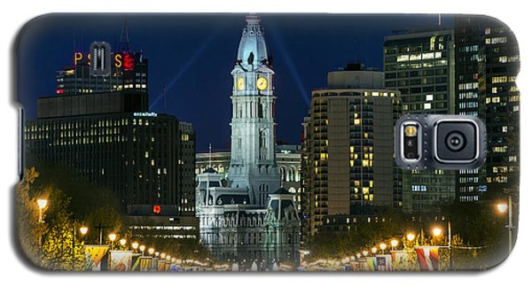 Ben Franklin Parkway And City Hall Galaxy S5 Case by John Greim