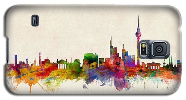 Berlin City Skyline Galaxy S5 Case by Michael Tompsett