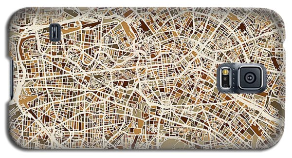 Berlin Germany Street Map Galaxy S5 Case by Michael Tompsett