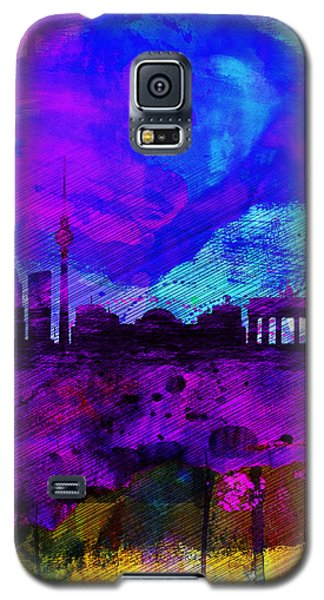 Berlin Watercolor Skyline Galaxy S5 Case by Naxart Studio