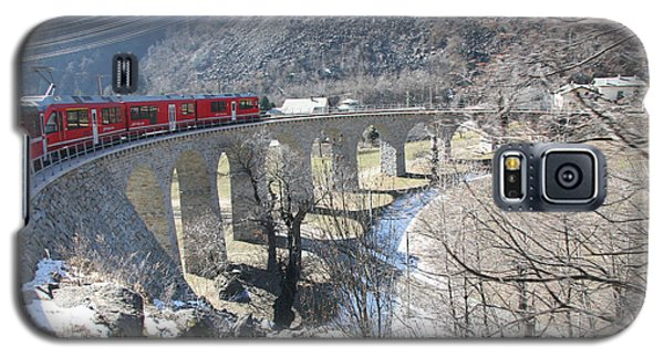 Galaxy S5 Case featuring the photograph Bernina Express In Winter by Travel Pics