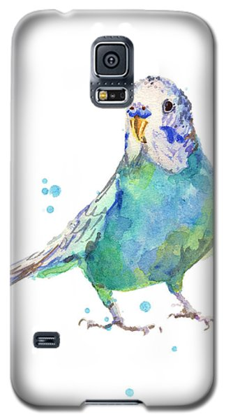 Bertie Wonderblue The Budgie Galaxy S5 Case by Alison Fennell
