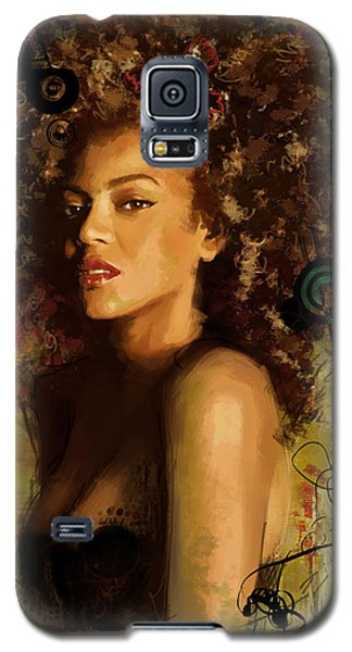 Celebrities Galaxy S5 Cases - Beyonce Galaxy S5 Case by Corporate Art Task Force