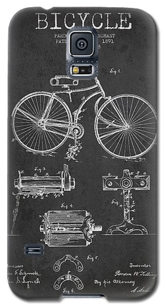 Bicycle Patent Drawing From 1891 Galaxy S5 Case by Aged Pixel