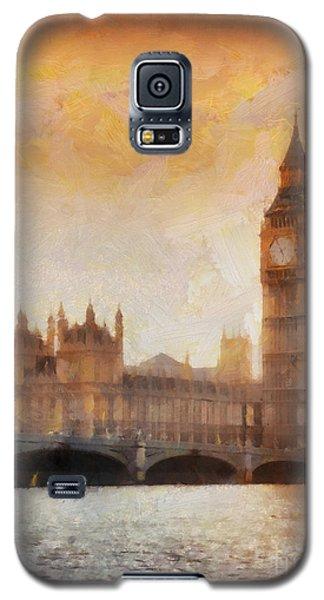 Big Ben At Dusk Galaxy S5 Case by Pixel Chimp